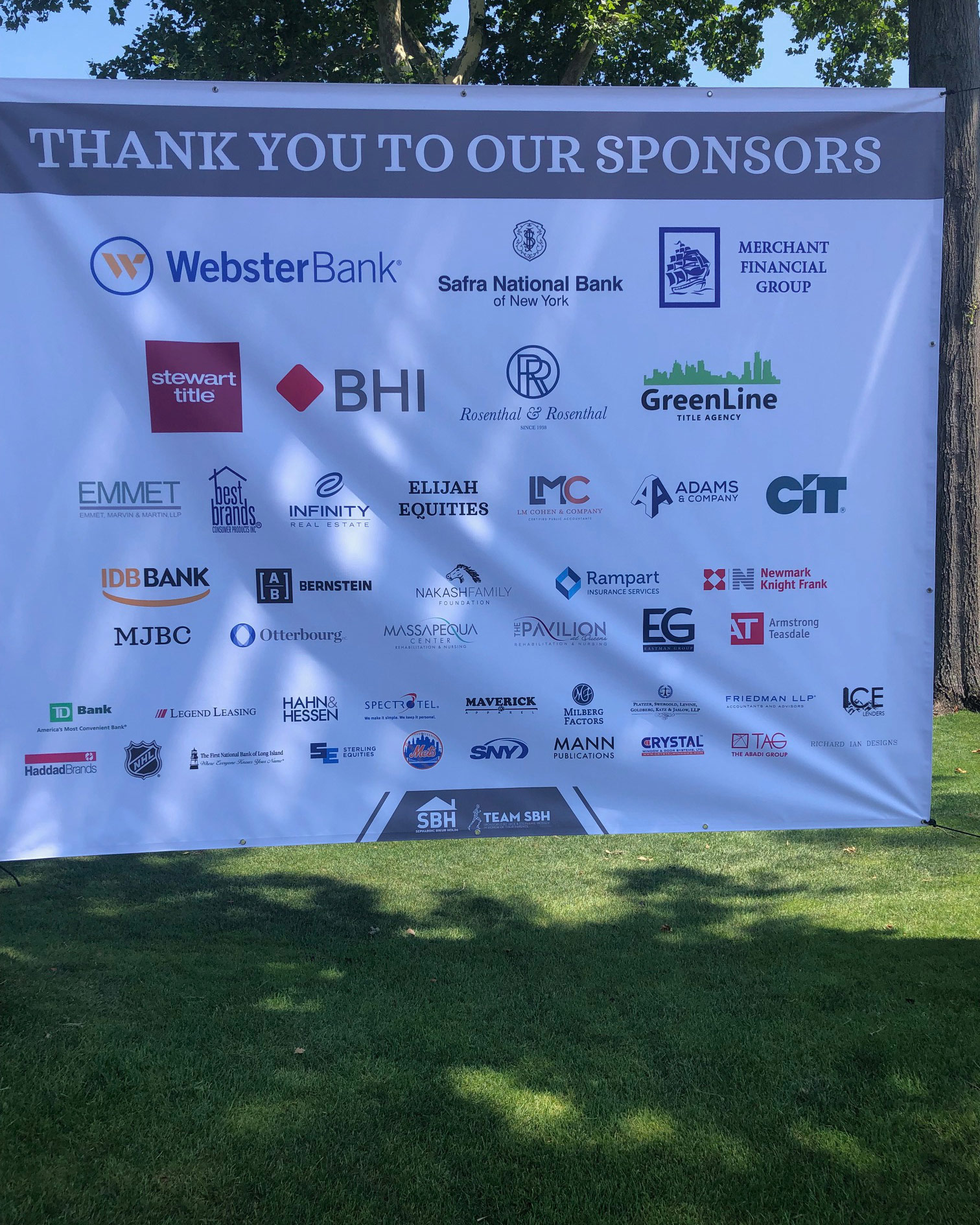 Thank You to our Sponsors Banner