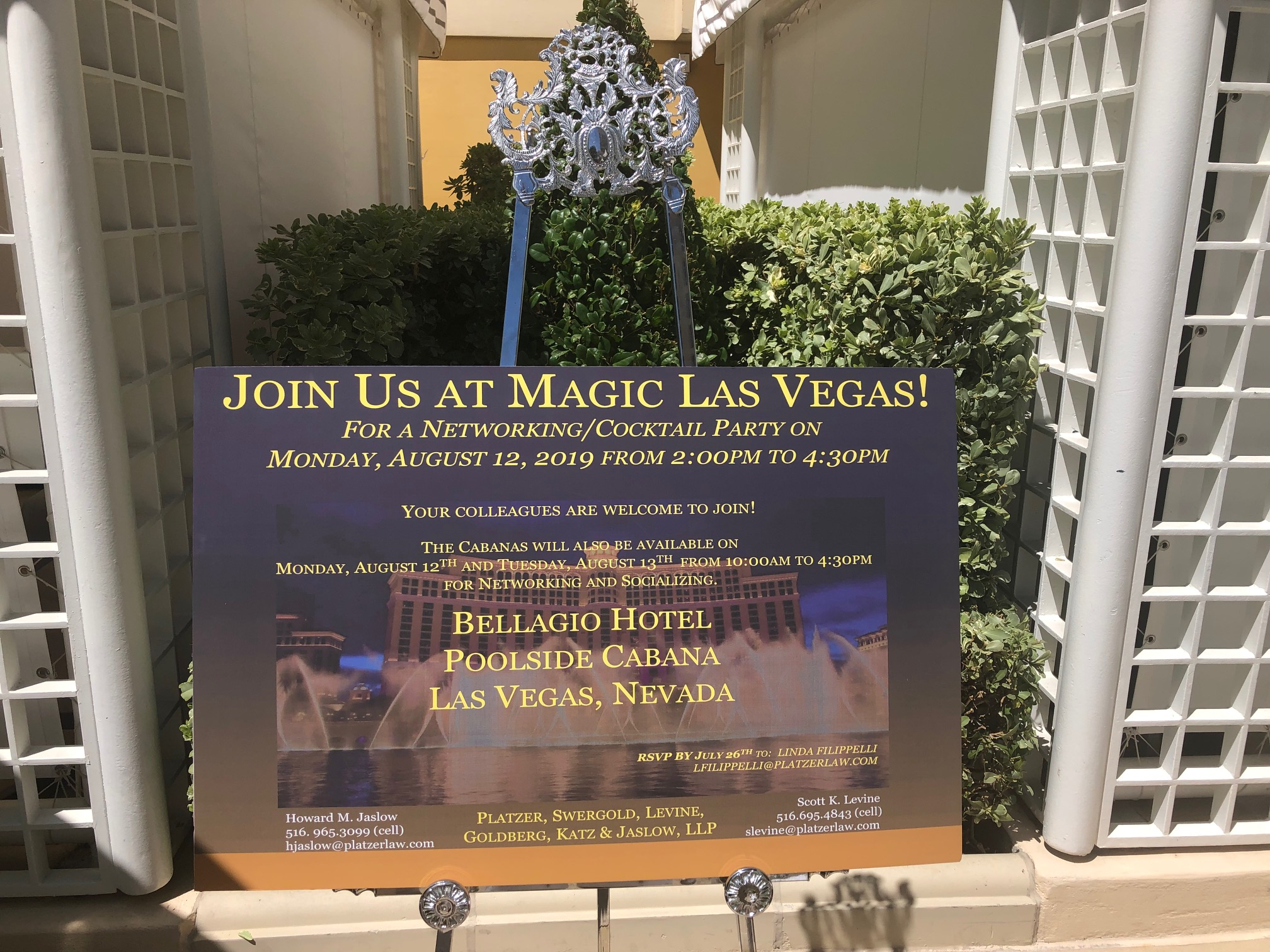 Join us at Magic Las Vegas | Sign (close up)