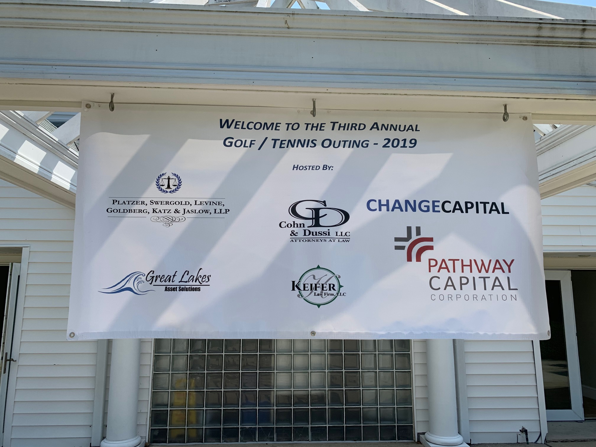 Welcome to the Third Annual Golf/Tennis Outing - 2019